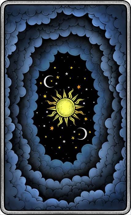 The Dark Mansion Tarot deck - Regular Version 2nd  Edition - Black edges,  blue reverse of cards (clouds)